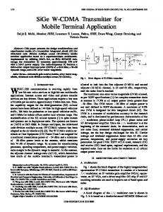 SiGe W-CDMA transmitter for mobile terminal application - IEEE Xplore