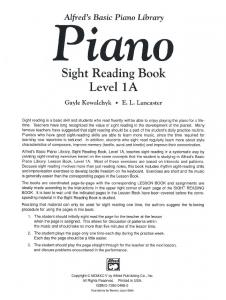 Sight Reading Book 1A - Rainbow Resource Center