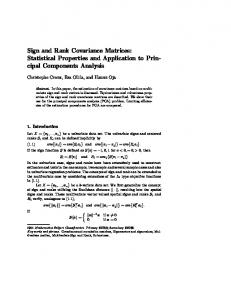 Sign and Rank Covariance Matrices - CiteSeerX
