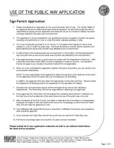 Sign Permit Application - City of Chicago