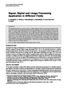 Signal, Digital and Image Processing Application in
