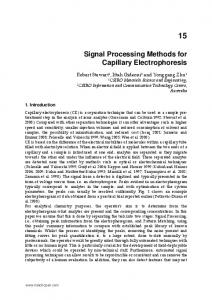 Signal Processing Methods for Capillary Electrophoresis - InTech