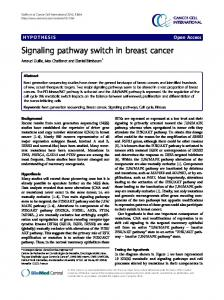Signaling pathway switch in breast cancer - BioMedSearch
