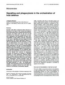 Signalling and phagocytosis in the orchestration ... - Wiley Online Library