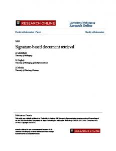 Signature-based document retrieval