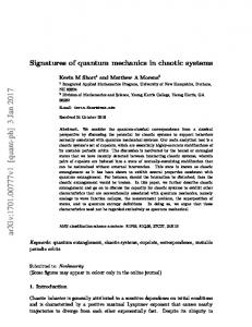 Signatures of quantum mechanics in chaotic systems