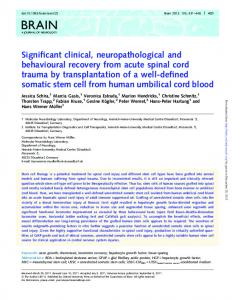 Significant clinical, neuropathological and ...