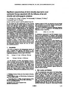 Significant concentrations of nitryl chloride ... - Wiley Online Library