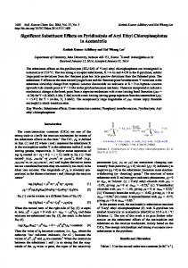 Significant Substituent Effects on Pyridinolysis of Aryl Ethyl ... - KPubS