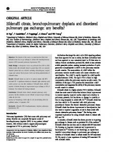 Sildenafil citrate, bronchopulmonary dysplasia and ... - Nature
