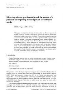 Silencing science: partisanship and the career of a ... - CiteSeerX