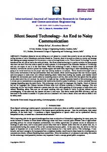 Silent Sound Technology- An End to Noisy Communication