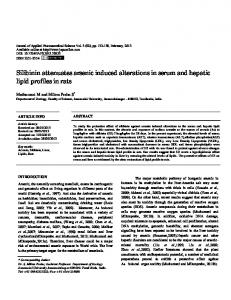 Silibinin attenuates arsenic induced alterations in serum and hepatic ...