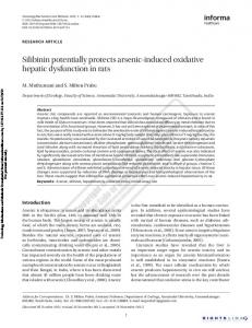 Silibinin potentially protects arsenic-induced oxidative