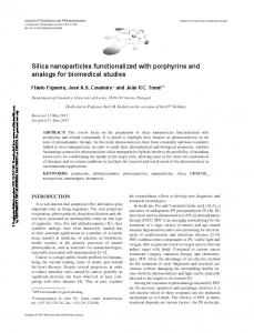 Silica nanoparticles functionalized with porphyrins