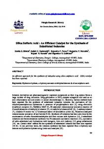Silica Sulfuric Acid : An Efficient Catalyst for the Synthesis ... - iMedPub
