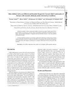 Silica sulfuric acid as an efficient and reusable reagent for crossed ...