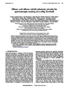 Silicon and silicon nitride photonic circuits for ... - OSA Publishing