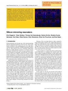 Silicon microring resonators - Photonics Research Group