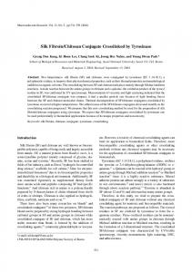 Silk Fibroin/Chitosan Conjugate Crosslinked by ...
