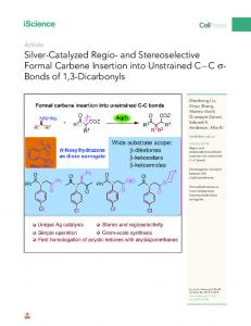 Silver-Catalyzed Regio- and Stereoselective Formal