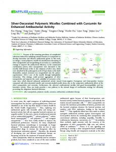 Silver-Decorated Polymeric Micelles Combined ... - ACS Publications