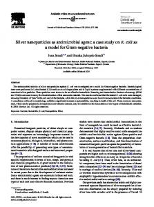 Silver nanoparticles as antimicrobial agent: a case ... - Semantic Scholar