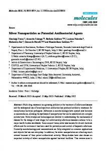 Silver Nanoparticles as Potential Antibacterial ... - Semantic Scholar