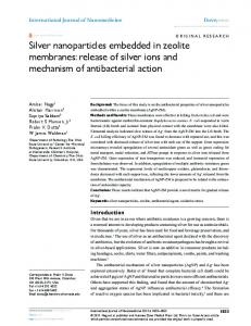silver nanoparticles embedded in zeolite membranes - CiteSeerX