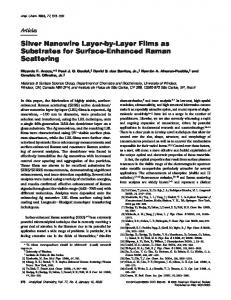 Silver Nanowire Layer-by-Layer Films as ... - ACS Publications