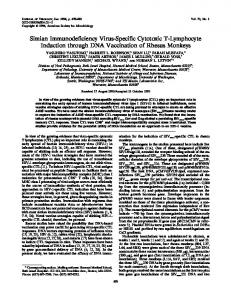 Simian Immunodeficiency Virus-Specific Cytotoxic T ... - NCBI - NIH