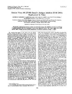 Simian Virus 40 (SV40) - PubMed Central Canada