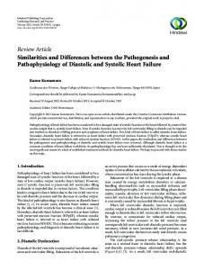 Similarities and Differences between the Pathogenesis and