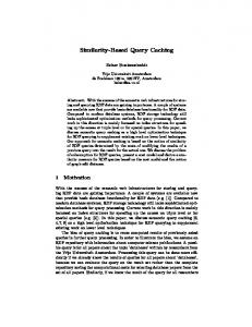 Similarity-Based Query Caching - Semantic Scholar
