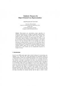 Similarity Measures for Object-Oriented Case ... - Semantic Scholar