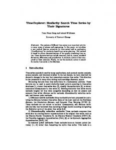 Similarity Search Time Series by Their Signatures - Semantic Scholar