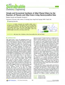 Simple and Economical Synthesis of Alkyl Phenyl Ethers by the
