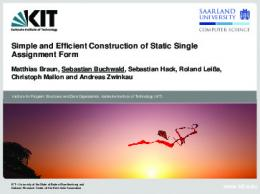 Simple and Efficient Construction of Static Single