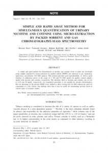 simple and rapid assay method for simultaneous quantification of ...