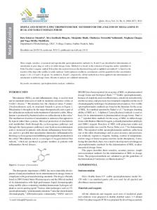 Simple and sensitive spectrophotometric methods for the analysis of ...