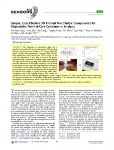 Simple, Cost-Effective 3D Printed Microfluidic ... - ACS Publications
