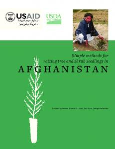 Simple methods for raising tree and shrub seedlings in Afghanistan