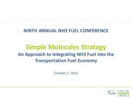 Simple Molecules Strategy - NH3 Fuel Association