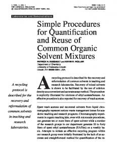 Simple Procedures for Quantification and Reuse of ... - Springer Link