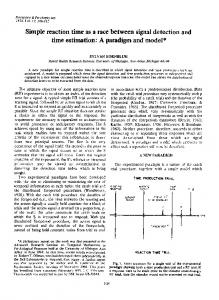 Simple reaction time as a race between signal ... - Springer Link