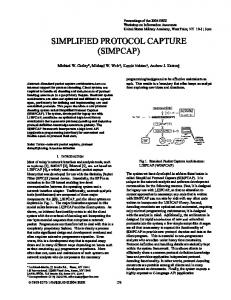 simplified protocol capture (simpcap) - IEEE Xplore