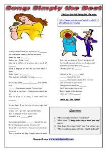 Simply the Best Worksheet - ESL Kids World