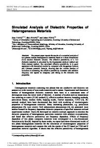 Simulated Analysis of Dielectric Properties of Heterogeneous Materials