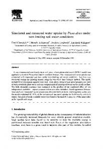 Simulated and measured water uptake by Picea abies ... - Science Direct