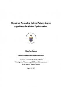 Simulated Annealing Driven Pattern Search Algorithms for ... - Core